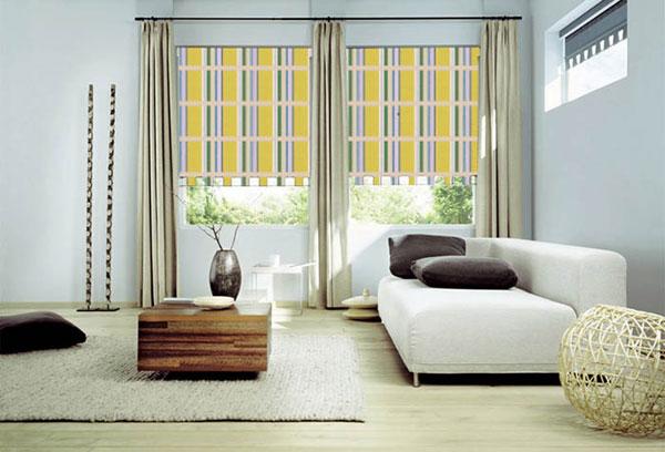 рулонные шторы однотонные