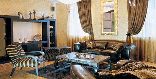 Дизайн интерьера спальня гостиная.