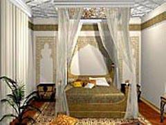 Индийский стиль интерьера- это бирюзовые, малиновые, оранжевые цвета...