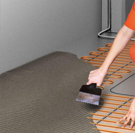 Теплый электрический пол без стяжки своими руками