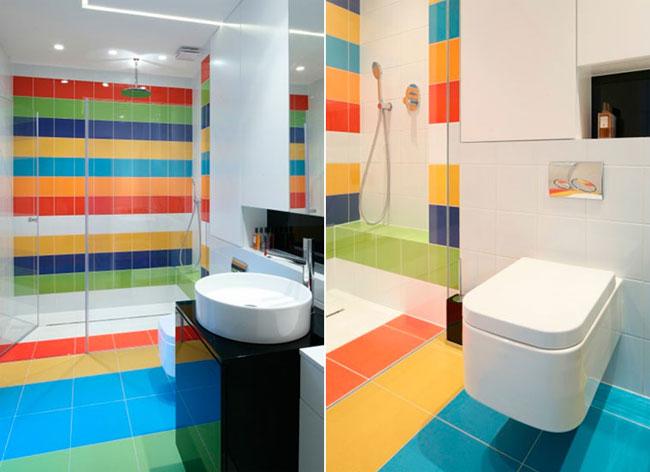 """Картинки по запросу """"Яркая плитка в ванной: простой способ увеличить пространство"""""""""""