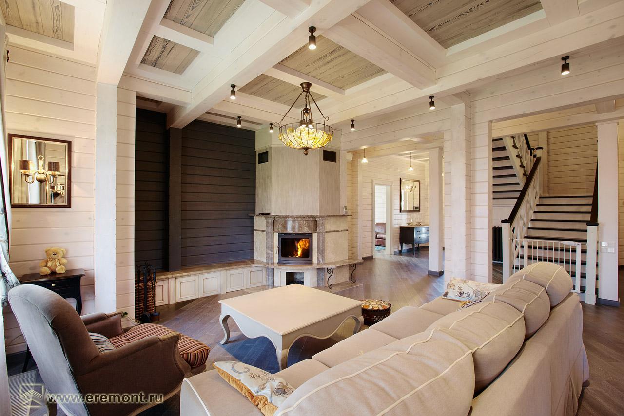 Фото дизайн дома из бруса