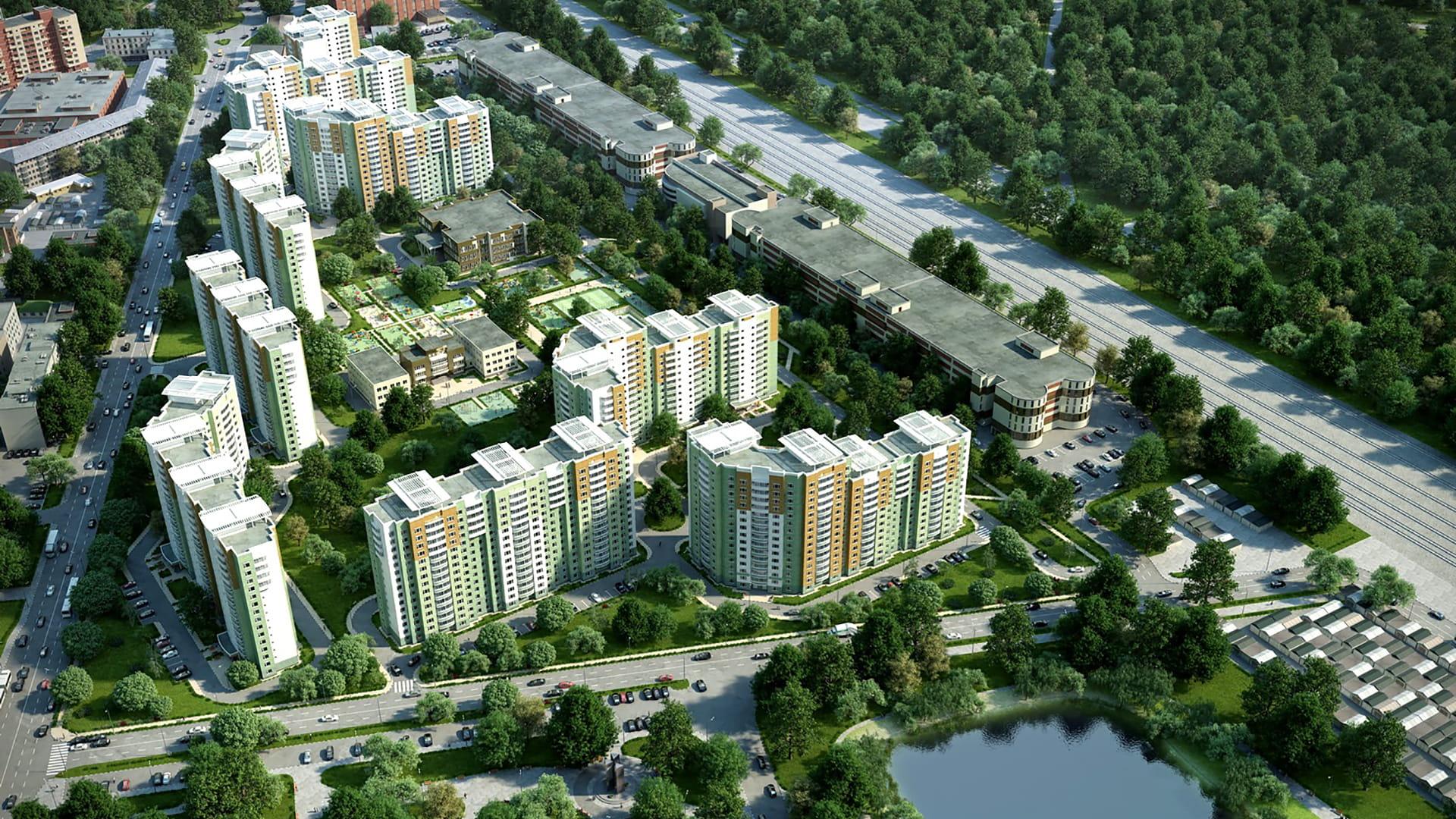 цветной жилой комплекс большое кусково фото это вертикальные строительные