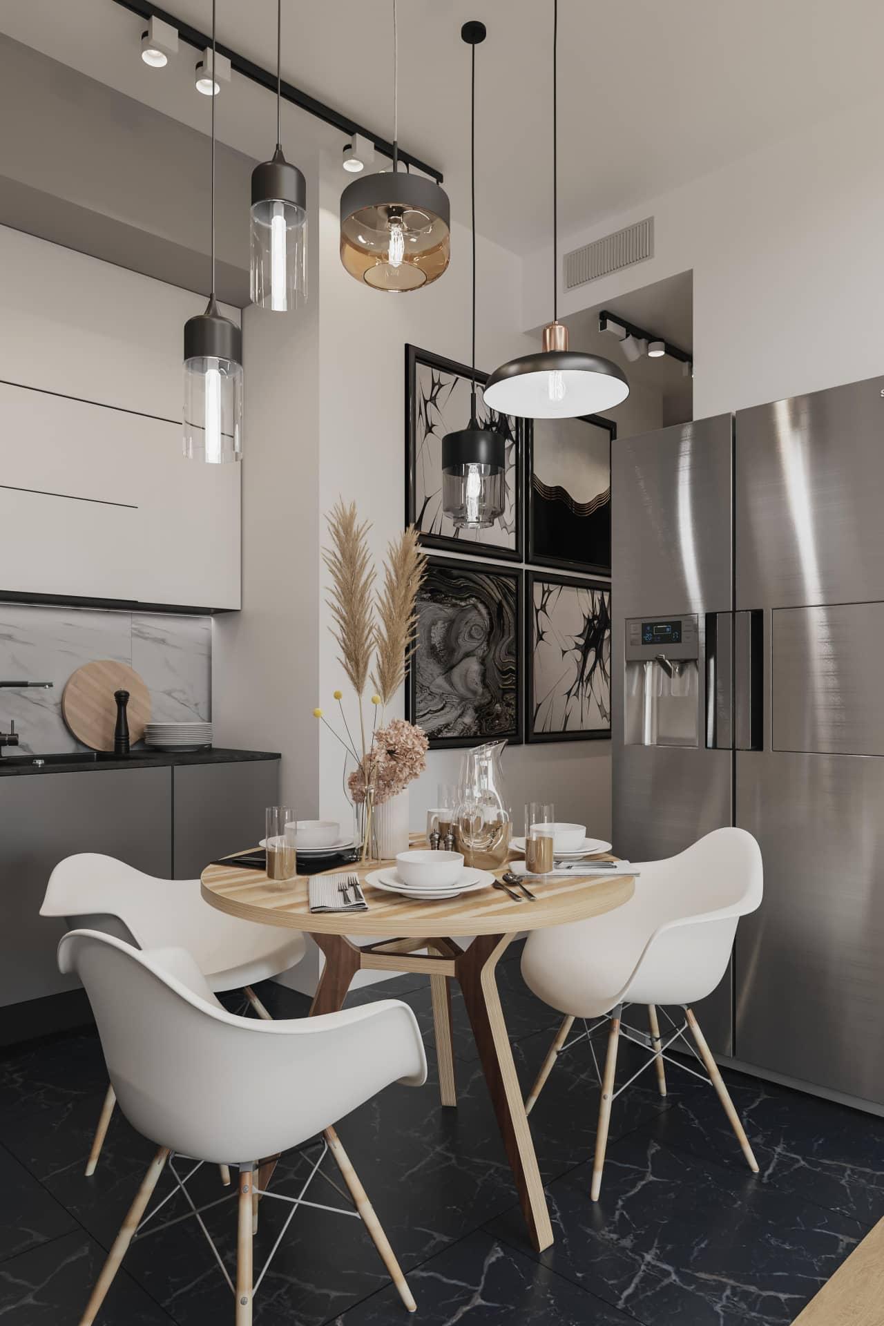 Дизайн кухни квартиры в новостройке в Москве