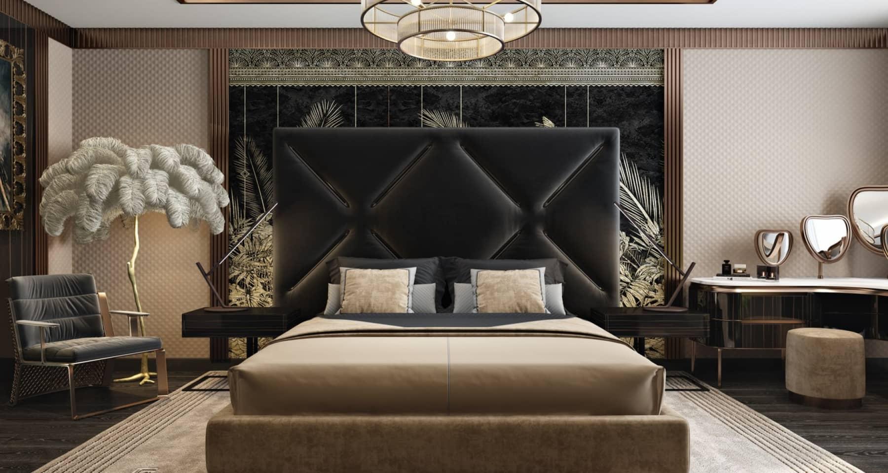 Интерьер спальни в квартире на Новом Арбате