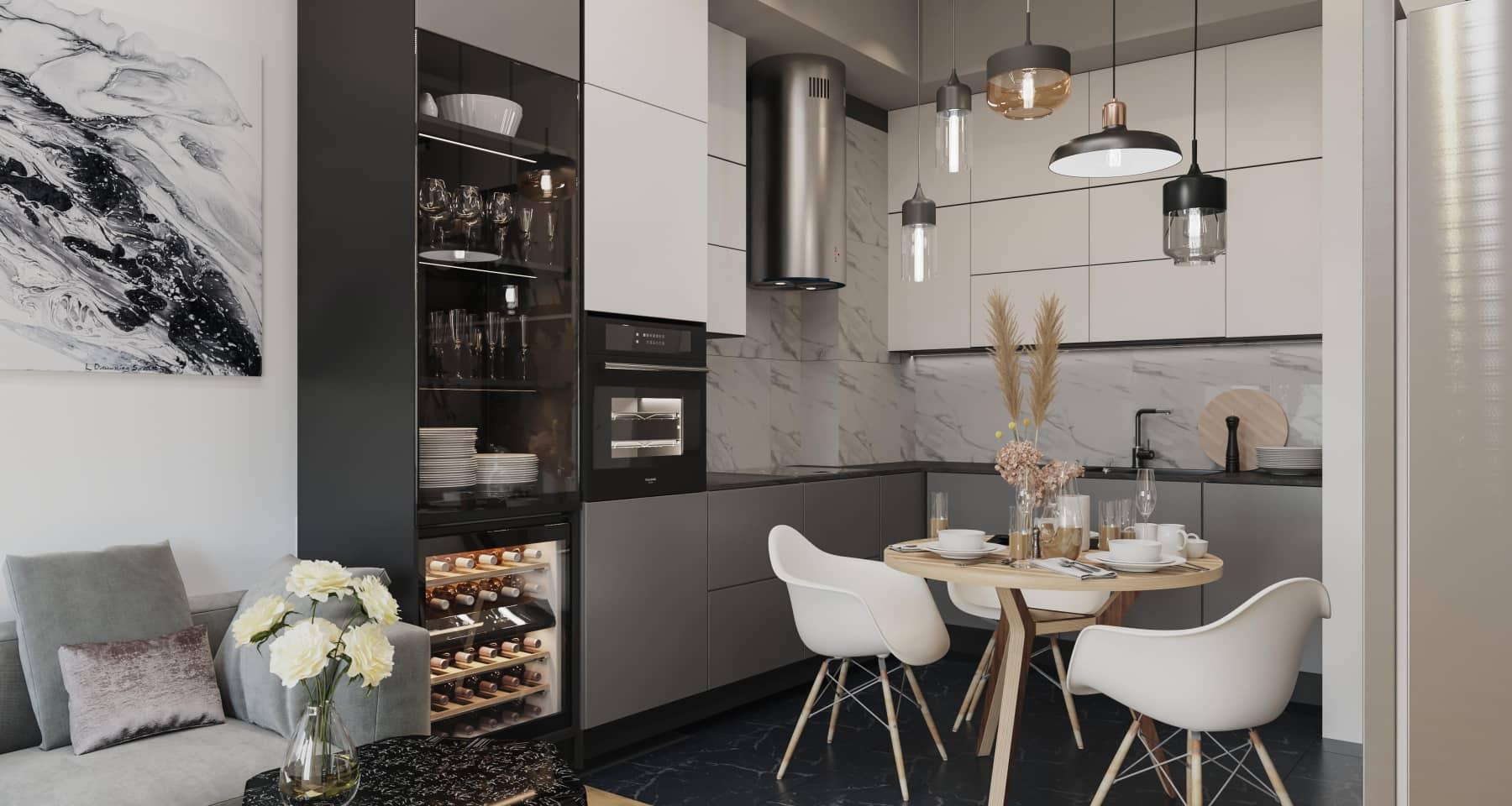 Дизайн кухни квартиры в новостройке