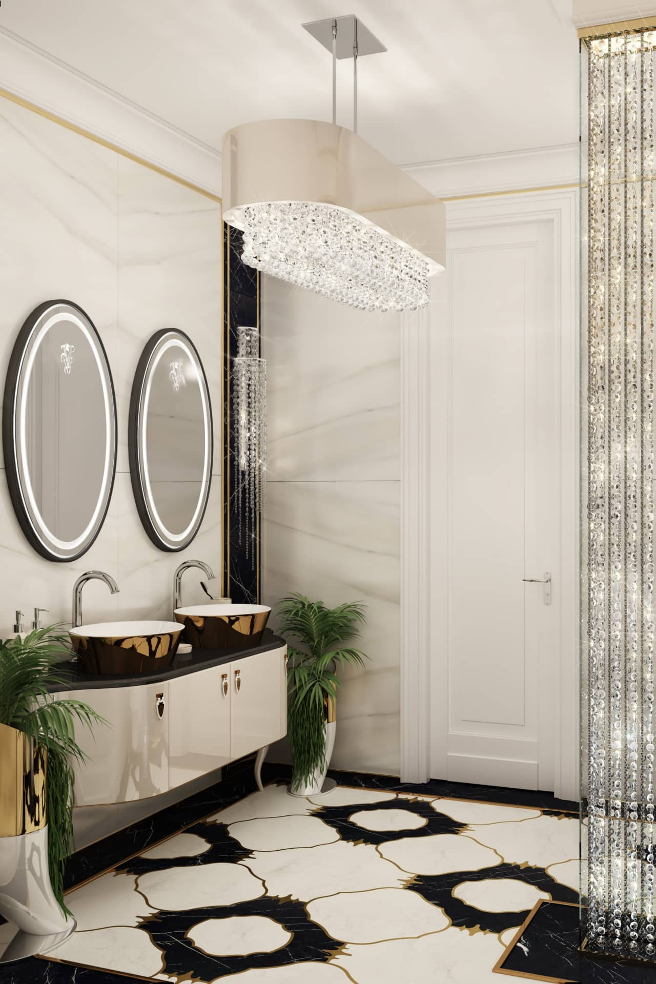 Ремонт ванной в стиле ар-деко