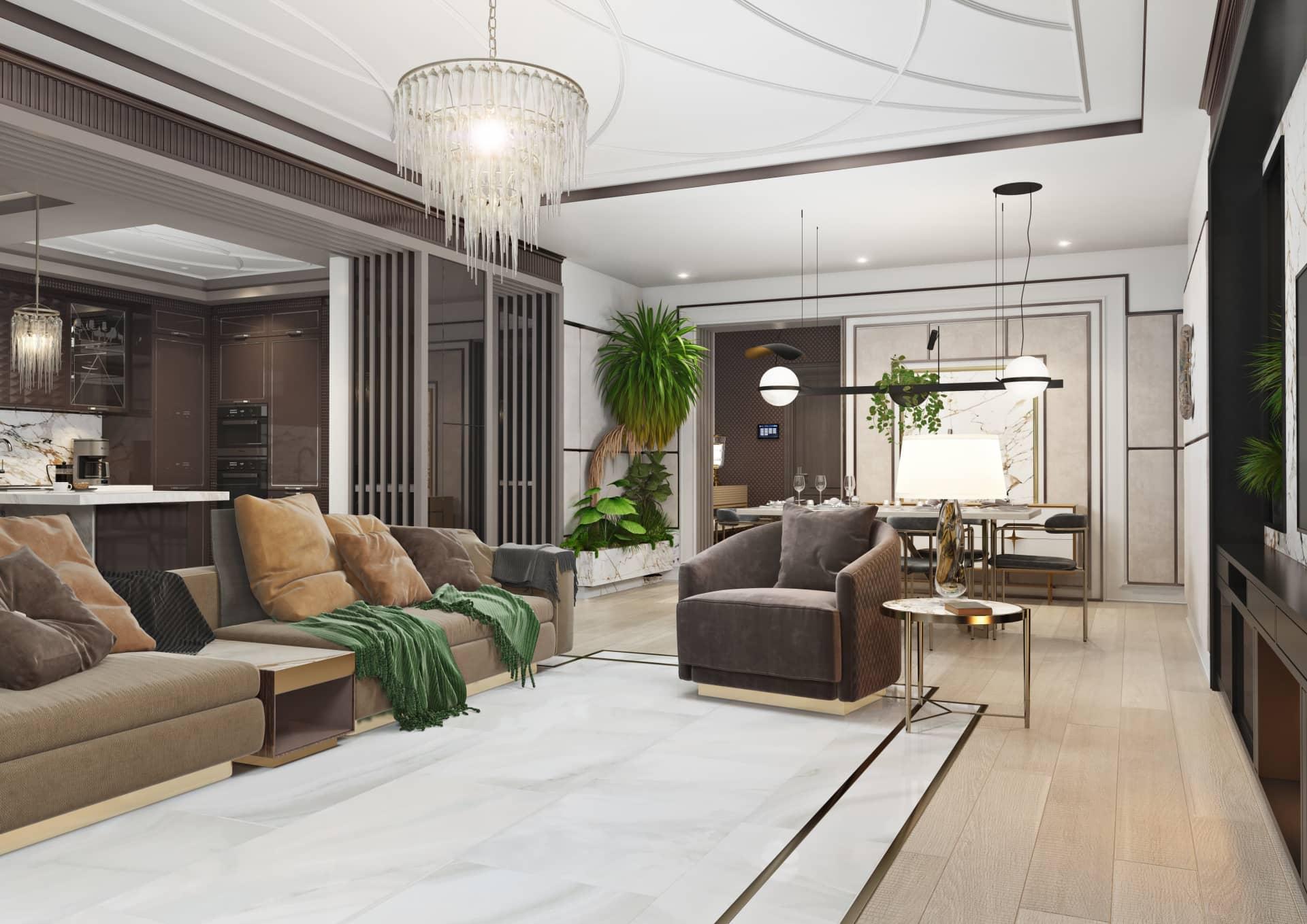 Эксклюзивный дизайн и ремонт квартиры из нашего портфолио
