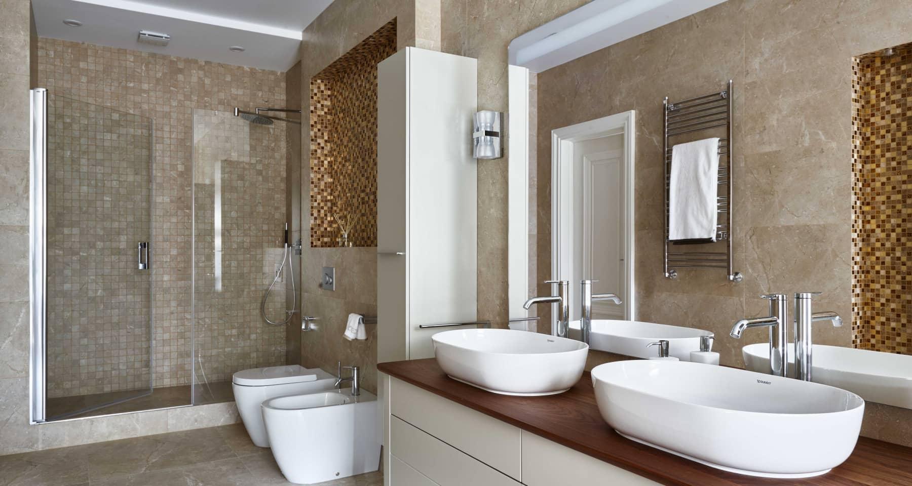 Фотография ванной с душевой