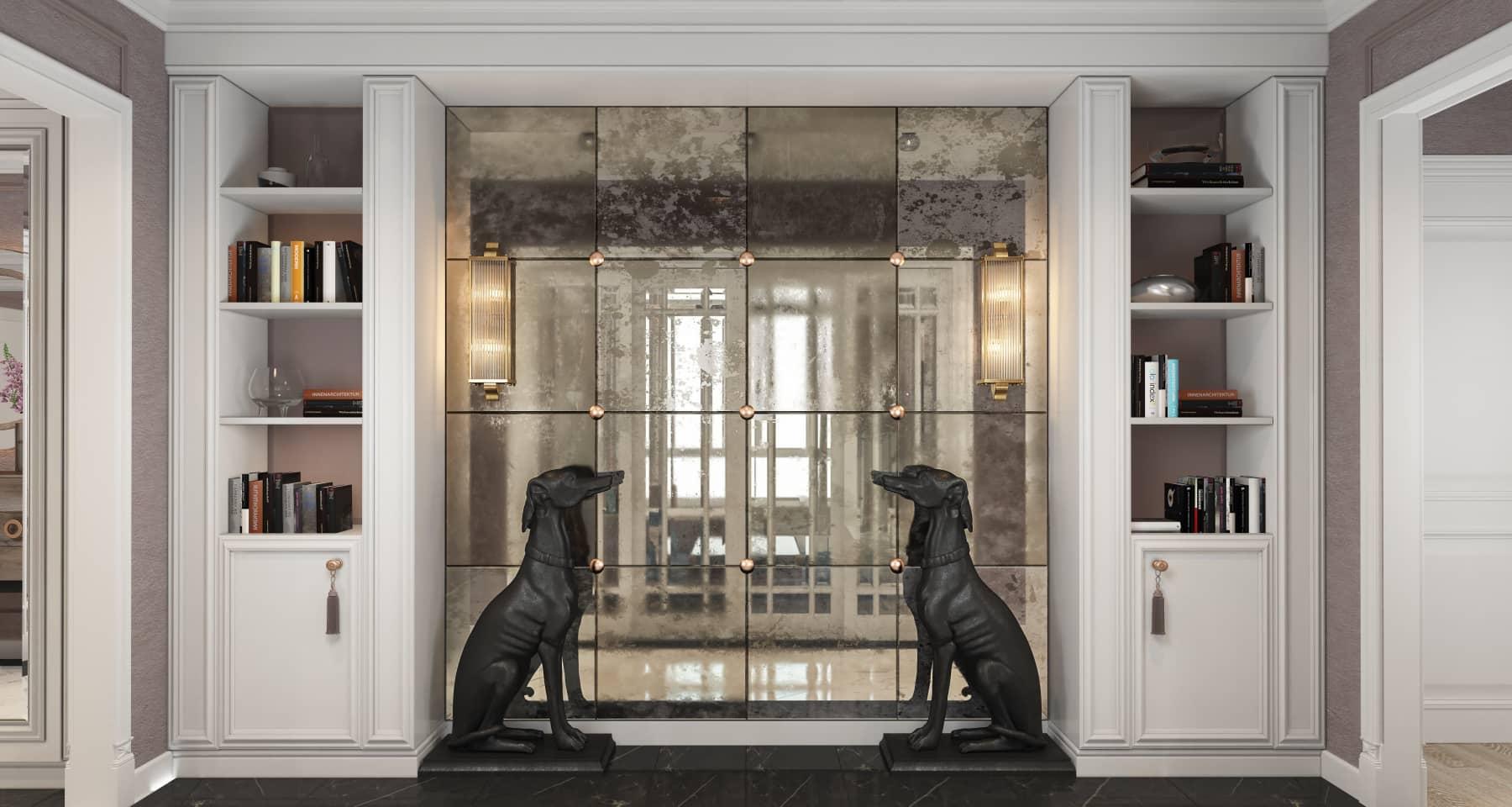 Интерьер холла в стиле современная классика