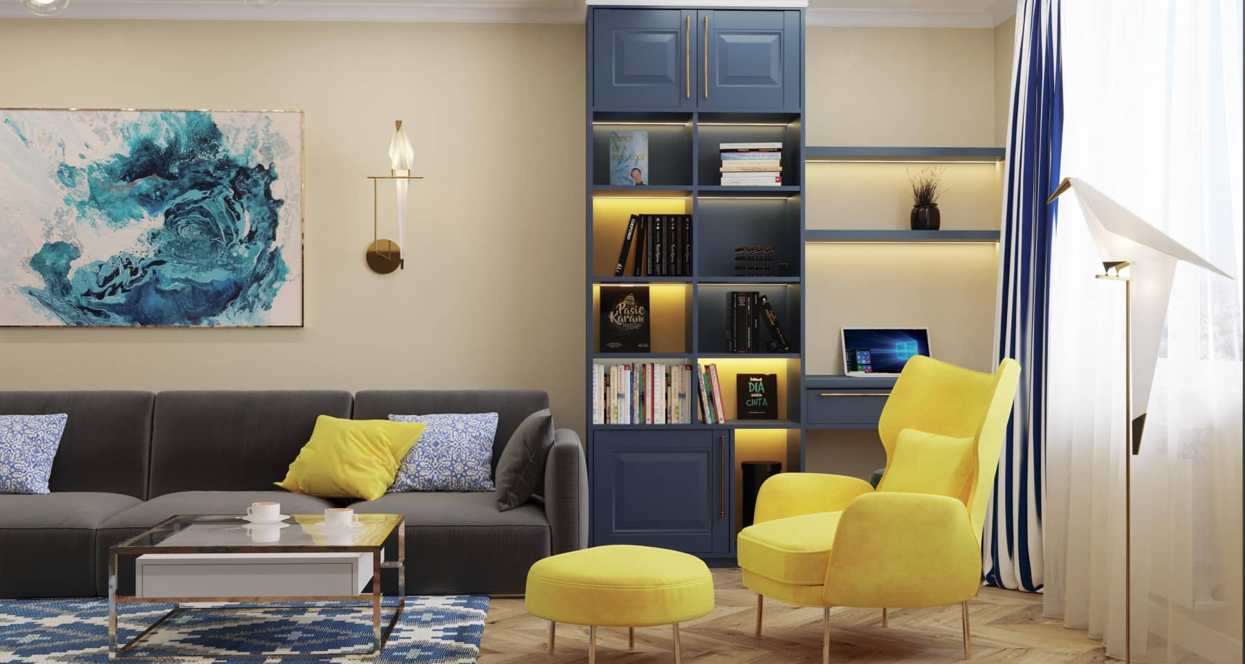 Дизайн 4-комнатной квартиры в стиле эклектика