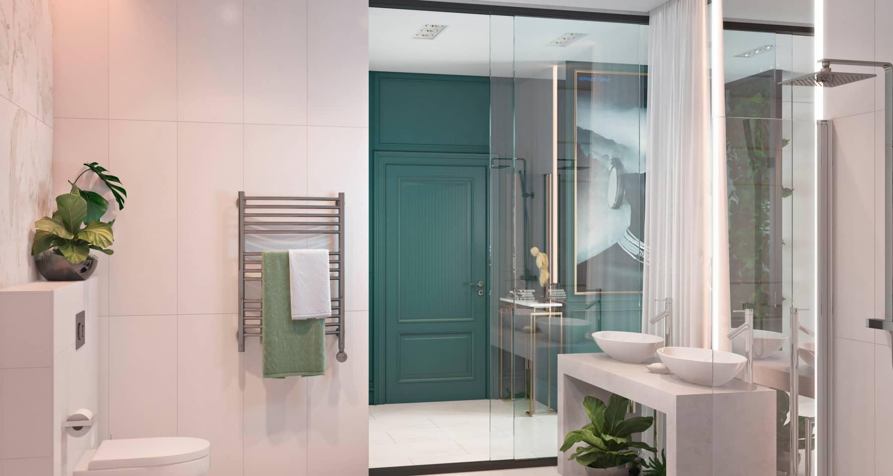 Проект дизайна ванной с душевой