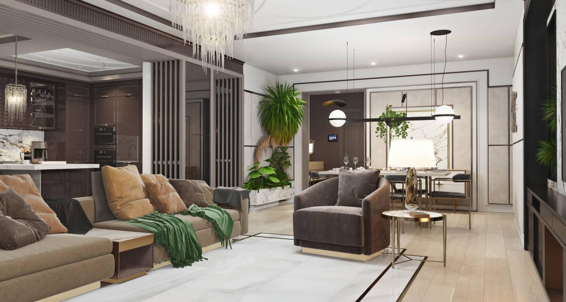 3D-визуализация квартиры 189 кв. м на Новом Арбате в Москве