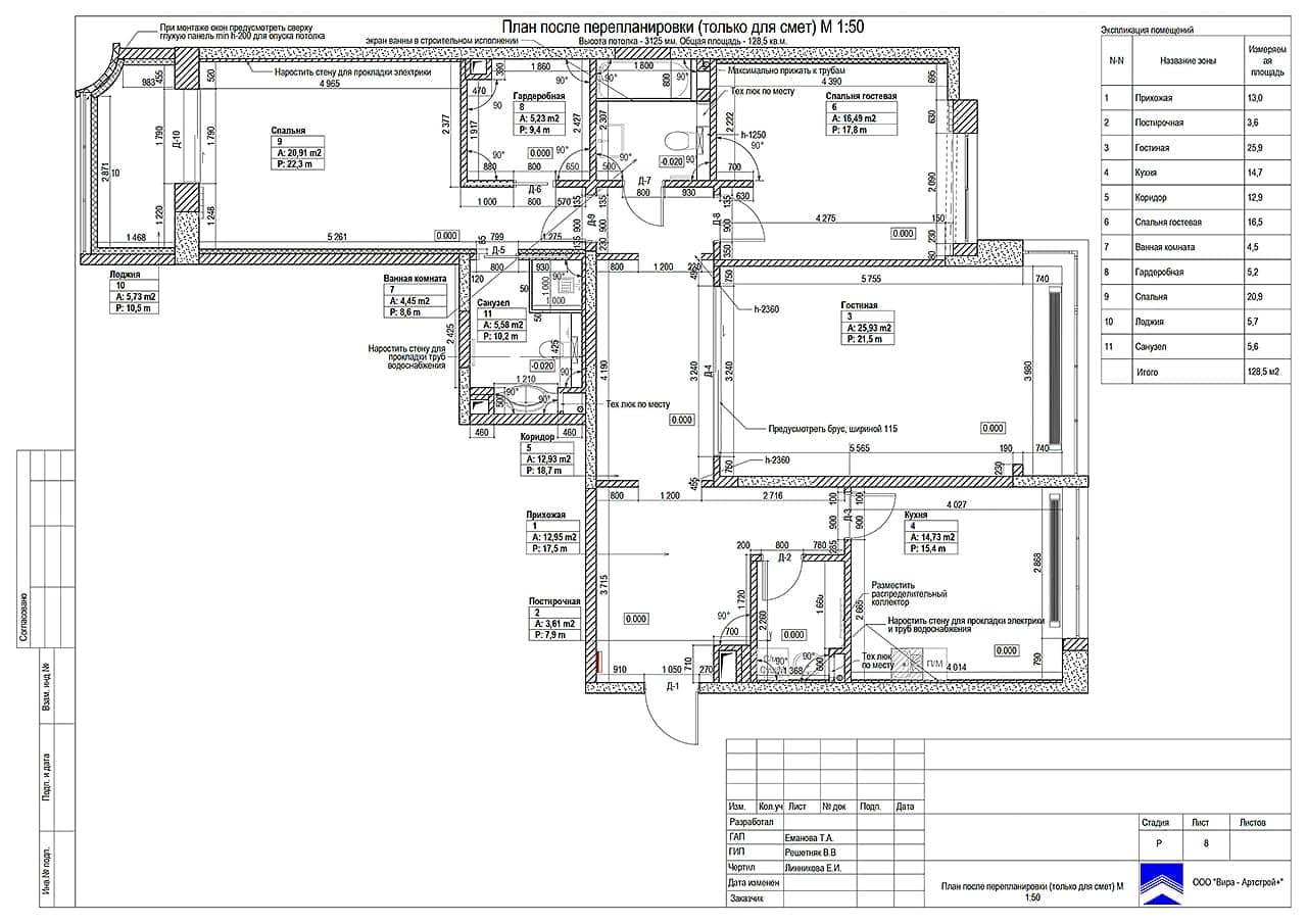 Проект перепланировки квартиры в Москве